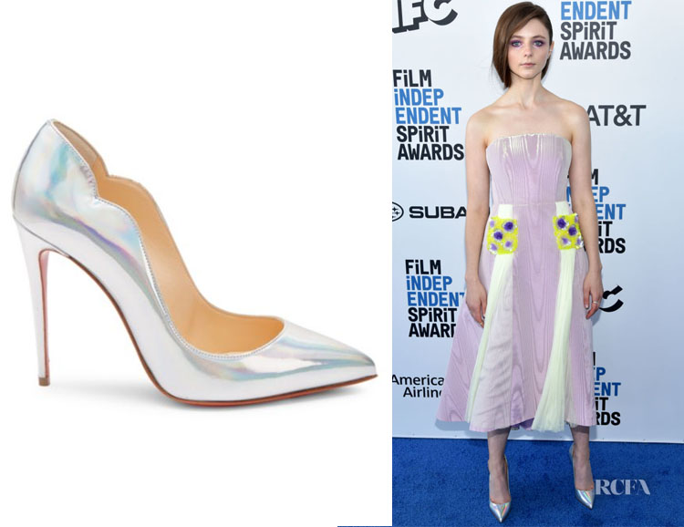 Thomasin McKenzie's Christian Louboutin Hot Chick Iridescent Pumps