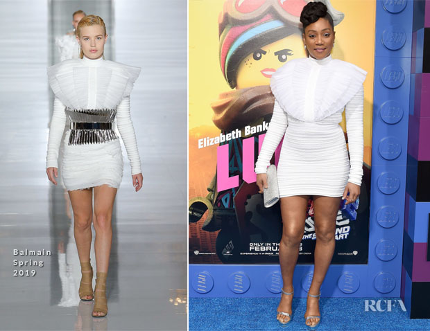 Fashion Blogger Catherine Kallon features Tiffany Haddish in Balmain - 'The Lego Movie 2: The Second Part' LA Premiere