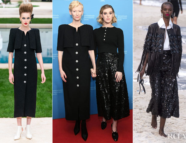 Fashion Blogger Catherine Kallon features Tilda Swinton & Honor Swinton-Byrne In Chanel - 'The Souvenir' Berlinale International Premiere