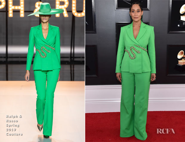 Fashion Blogger Catherine Kallon features Tracee Ellis Ross In Ralph & Russo Couture - 2019 Grammy Awards