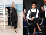 Fashion Blogger Catherine Kallon features Yara Shahidi In Chanel - 2019 Winter TCA Tour