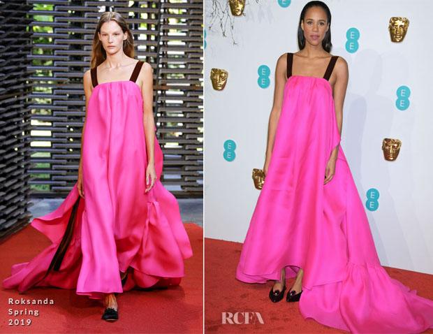 Fashion Blogger Catherine Kallon features Zawe Ashton In Roksanda - 2019 BAFTAs