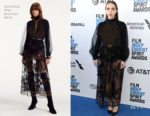 Fashion Blogger Catherine Kallon features Zoe Kazan In Christian Dior - 2019 Film Independent Spirit Awards