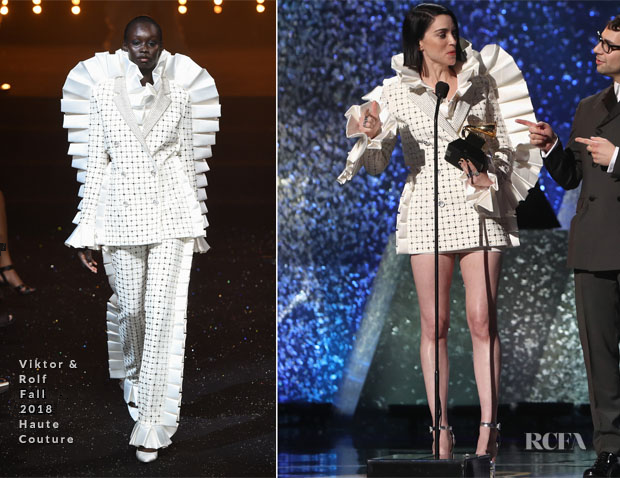 Fashion Blogger Catherine Kallon features St. Vincent In Vikor & Rolf Haute Couture - 2019 Grammy Awards