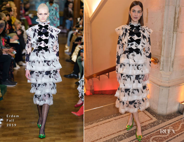 Alexa Chung In Erdem - The Portrait Gala 2019