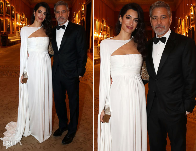 Amal Clooney In Jean-Louis Scherrer by Stephane Rolland - The Prince's Trust Dinner