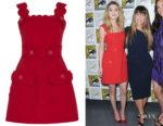 Amber Heard's Elie Saab Scalloped Mini Dress