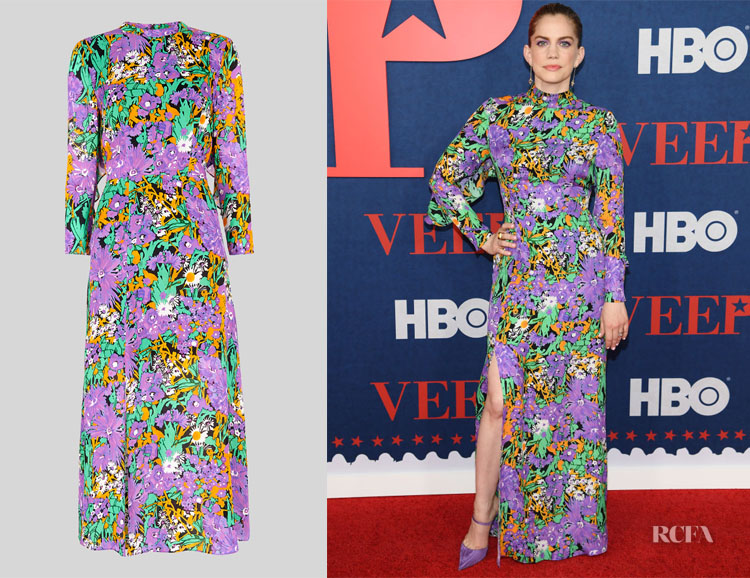 4e00ebed679 Anna Chlumsky s Whistles Simone Floral Dress - Red Carpet Fashion Awards