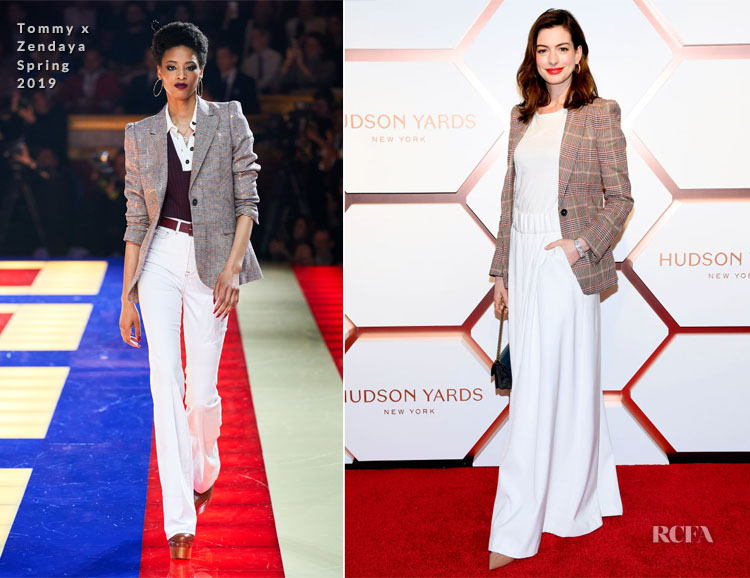 Anne Hathaway In Tommy x Zendaya - Hudson Yards Grand Opening Party