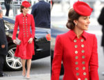Catherine, Duchess of Cambridge In Catherine Walker - Commonwealth Day 2019