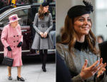 Catherine, Duchess of Cambridge In Catherine Walker - King's College London & The Foundling Museum