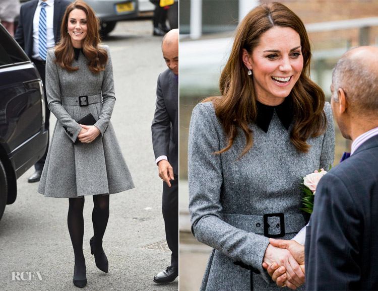 Catherine, Duchess of Cambridge In Catherine Walker - The Foundling Museum