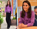 Catherine, Duchess of Cambridge In Gucci & Jigsaw - The Henry Fawcett Children's Centre Visit