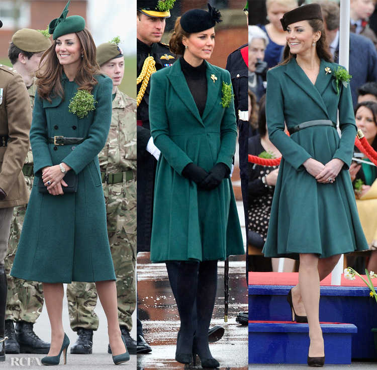 Catherine, Duchess of Cambridge - The Irish Guards St Patrick's Day Parade