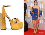 Dua Lipa's Saint Laurent Paige Platform Sandals