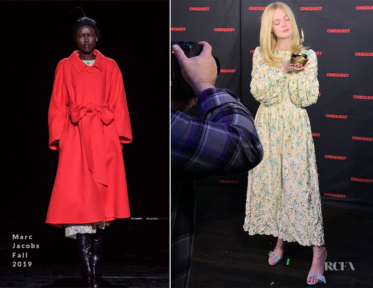 Elle Fanning In Marc Jacobs - Cinequest Film Festival