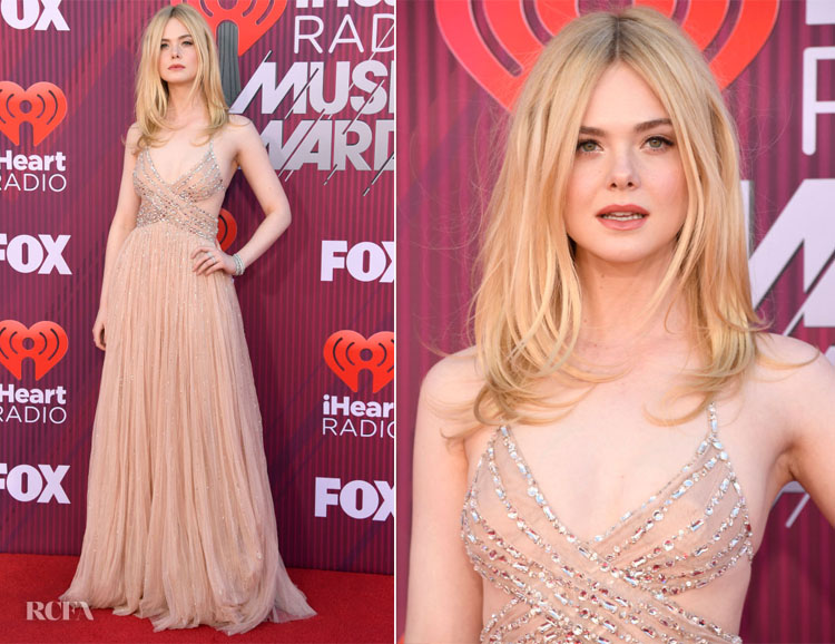 Elle Fanning In Miu Miu - 2019 iHeartRadio Music Awards