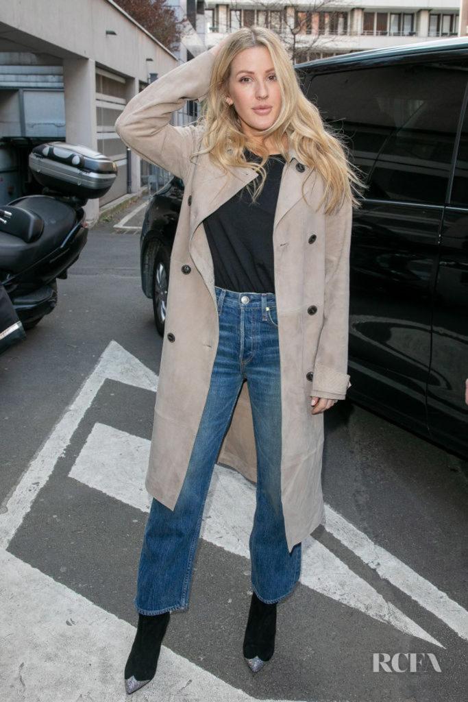 Ellie Goulding's Transitional Coat Inspo in Rag & Bone