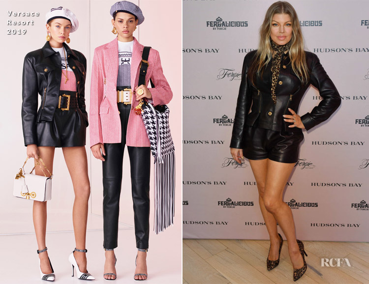 Fergie In Versace - Fergie Footwear And Fergalicious By Fergie Spring 2019 Collections