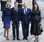 French President Emmanuel Macron Receives King Abdullah II Of Jordan At Elysee Palace In Paris