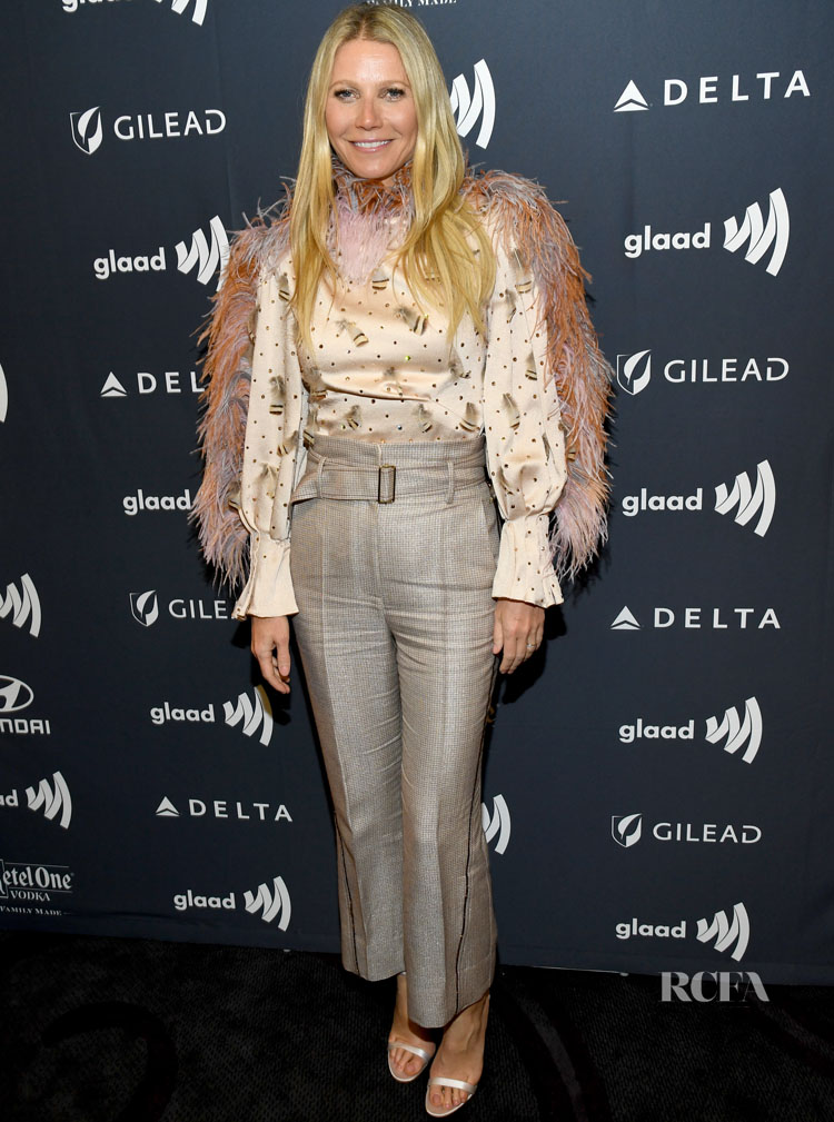 Gwyneth Paltrow in Peter Pilotto - 2019 GLAAD Media Awards