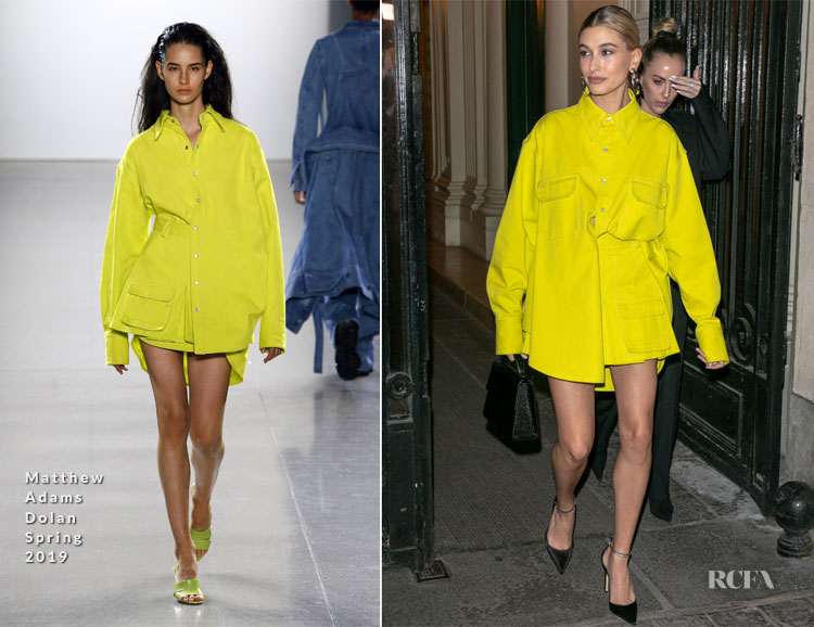 Hailey Bieber Baldwin In Matthew Adams Dolan - 'American In Paris' Cocktail Party