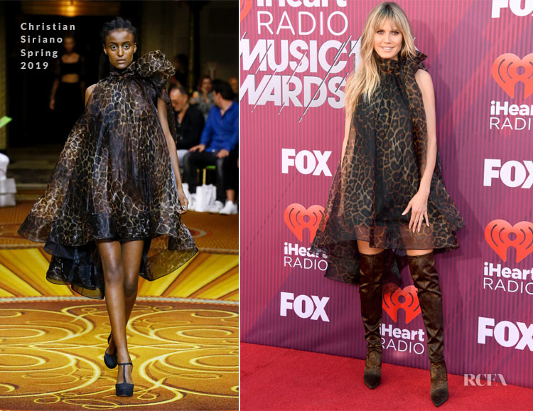 Heidi Klum In Christian Siriano - 2019 iHeartRadio Music Awards