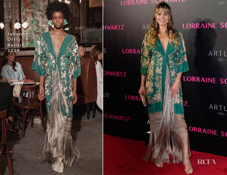 Heidi Klum In Johanna Ortiz - Celebration of Lorraine Schwartz Jewelry
