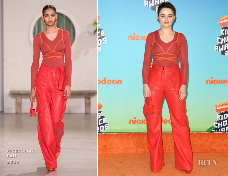 Joey King In Jacquemus - Nickelodeon's 2019 Kids' Choice Awards
