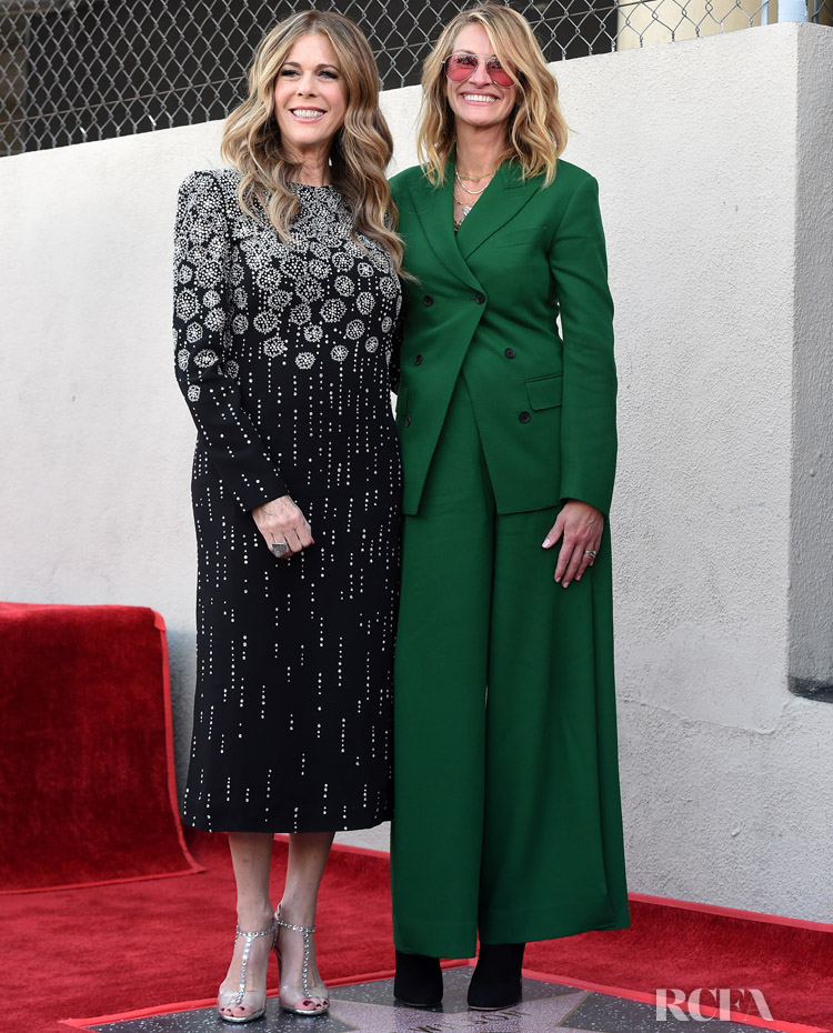 Julia Roberts in Salvatore Ferragamo & Rita Wilson in Givenchy - Hollywood Walk of Fame Ceremony