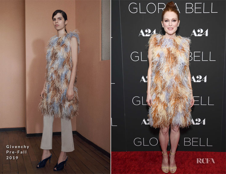 Julianne Moore In Givenchy - The Late Show with Stephen Colbert & 'Gloria Bell' New York Screening