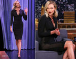 Karlie Kloss In Tom Ford - The Tonight Show Starring Jimmy Fallon