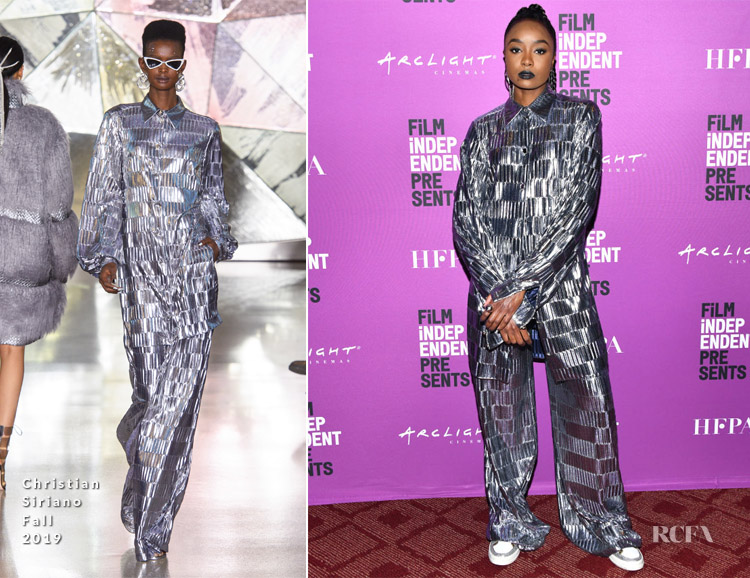 Kiki Layne In Christian Siriano - Film Independent Presents HBO Screening Series - 'Native Son'