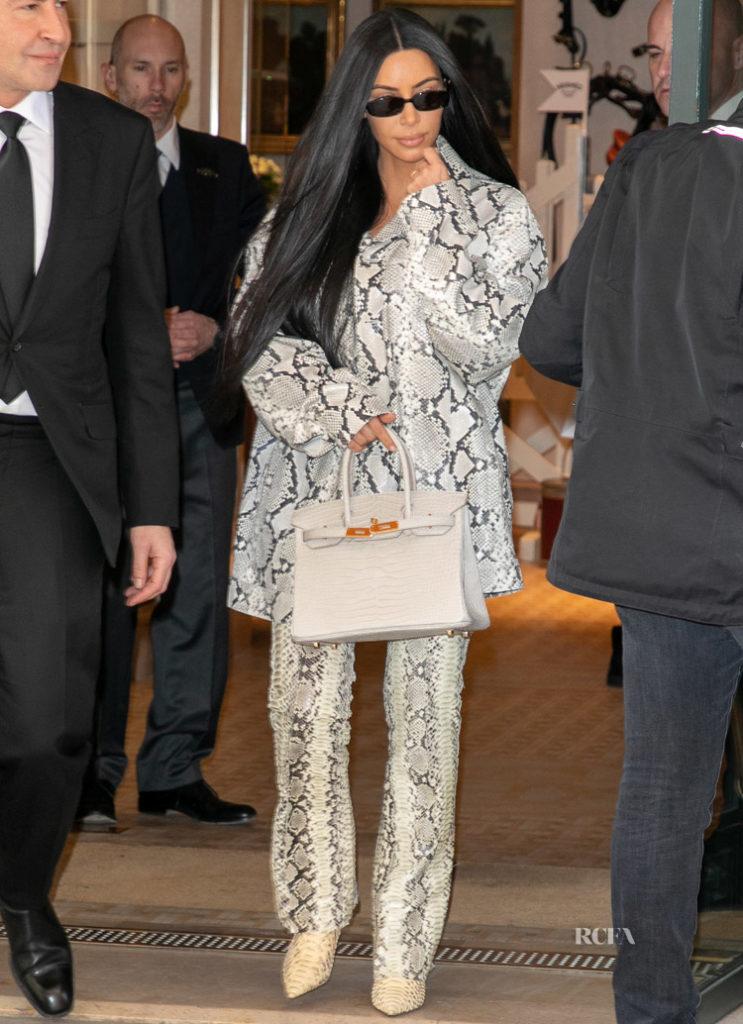 Kim Kardashian In Alyx - Out In Paris