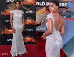 Lashana Lynch In Jovani - 'Captain Marvel' LA Premiere