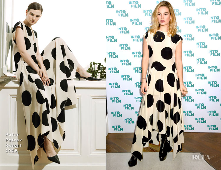 Lily James In Petar Petrov - Into Film Awards