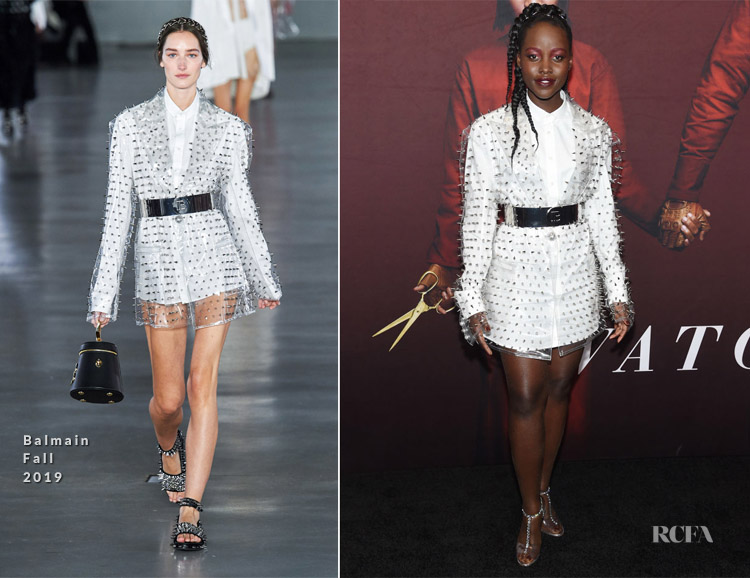 Lupita Nyong'o In Balmain - 'Us' New York Premiere