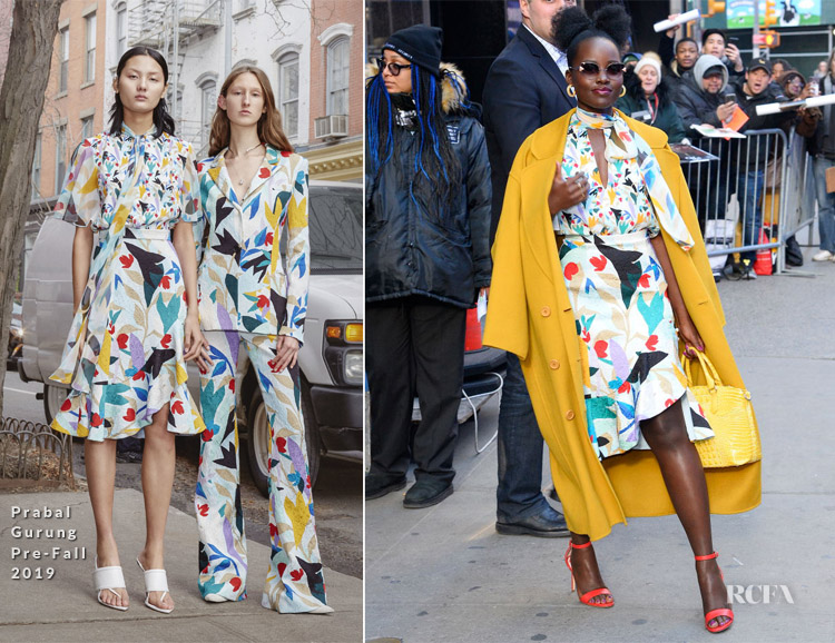 Lupita Nyong'o In Prabal Gurung - Good Morning America
