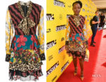Lupita Nyong's Alice + Olivia  Dasha Multi-Print Dress