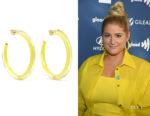 Meghan Trainor's Alison Lou Jelly Lucite & Enamel Hoop Earrings