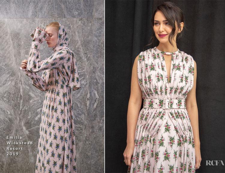 Nazanin Boniadi In Emilia Wickstead - 'Hotel Mumbai' New York Press Conference