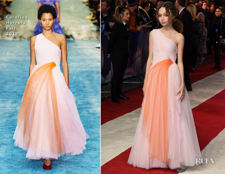 Nico Parker In Carolina Herrera - 'Dumbo' London Premiere