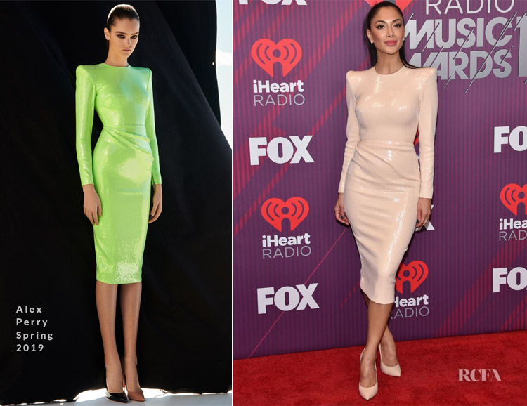 Nicole Scherzinger In Alex Perry - 2019 iHeartRadio Music Awards