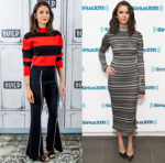 Nina Dobrev In Victor Glemaud & Herve Leger - Build Series & SiriusXM