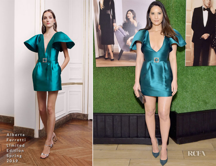 Olivia Munn In Alberta Ferretti Limited Edition - The Hollywood Reporter And Jimmy Choo Power Stylists Dinner
