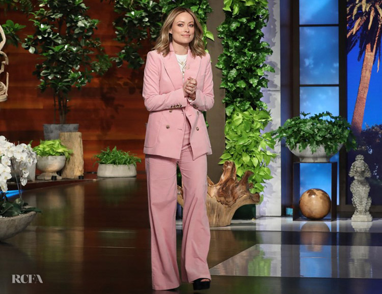 Olivia Wilde In Bella Freud - The Ellen DeGeneres Show