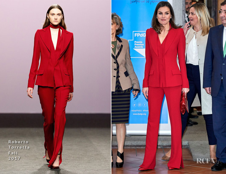 Queen Letizia of Spain In Roberto Torretta - Premio Fundacion Princesa de Girona 2019