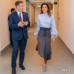 Queen Rania of Jordan Wears Silvia Tcherassi In Amman