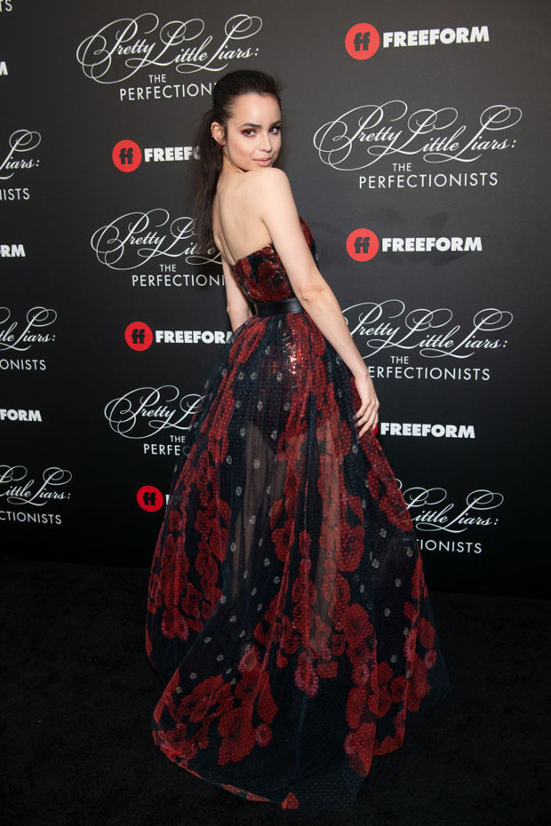 Sofia Carson In Elie Saab - 'Pretty Little Liars The Perfectionists' Premiere