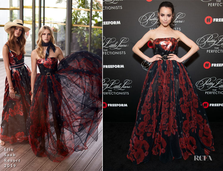 Sofia Carson In Elie Saab - 'Pretty Little Liars: The Perfectionists' Premiere